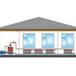 Схема отопления одноэтажного дома с принудительной циркуляцией