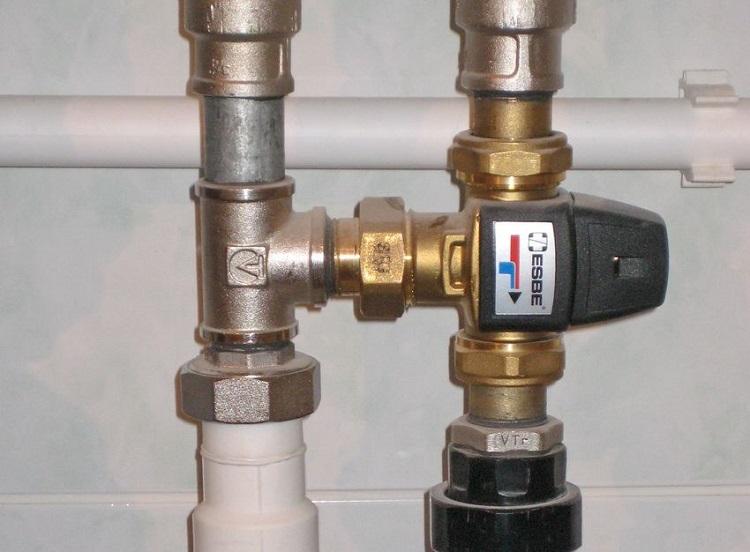 техходовой клапан с терморегулятором