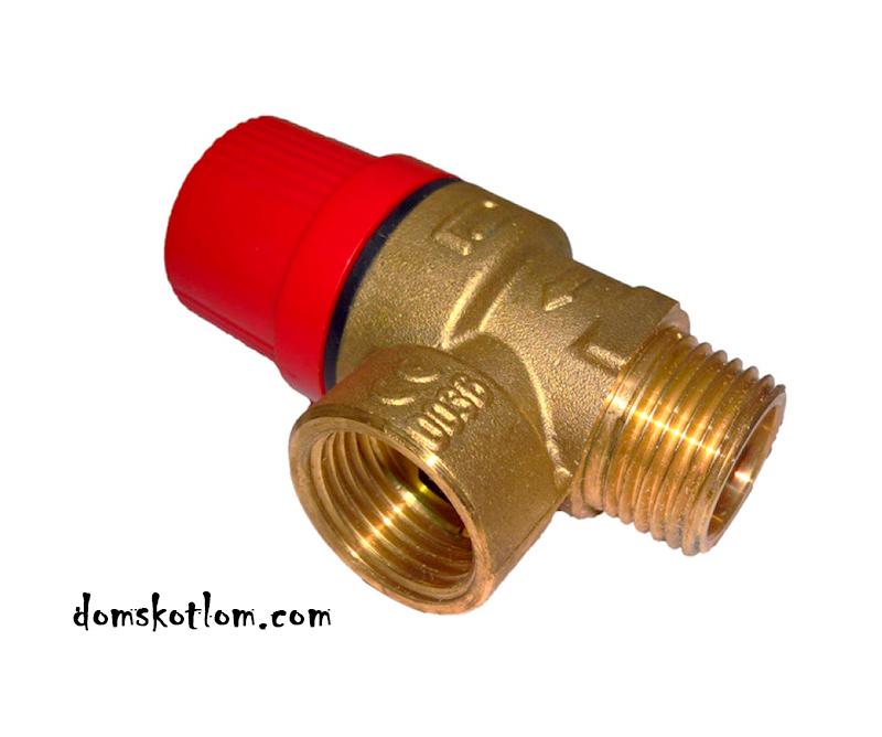 Запобіжний клапан в системі опалення